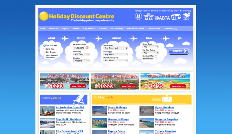Holiday Discount Centre: Home Page