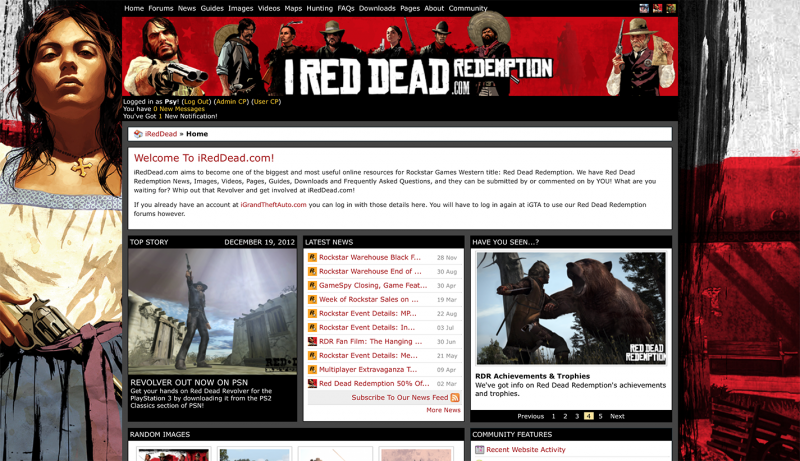iRedDead.com: Home Page