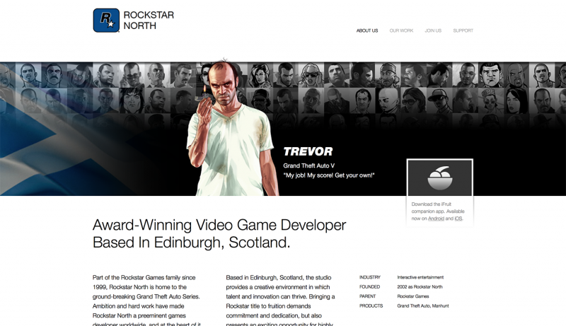 Rockstar North: Header