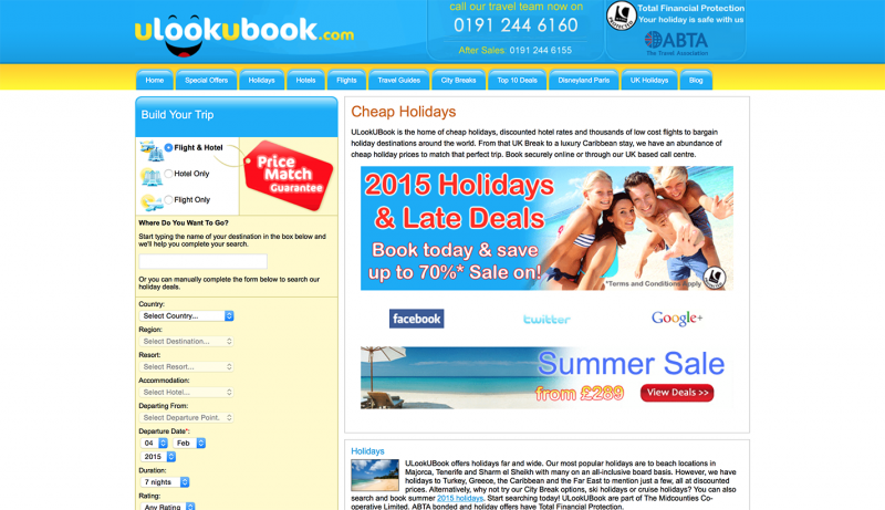 ULookUBook: Home Page